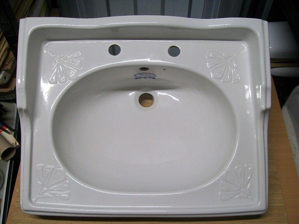 Victorian bathroom sink - Vintage Retro Style Balterley Basin With Pedestal Victorian Bathroom Sink Traditional Washbasin