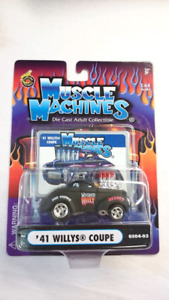 MUSCLE MACHINES '41 WILLYS COUPE WICKED WILLY RARE DIE CAST MINT