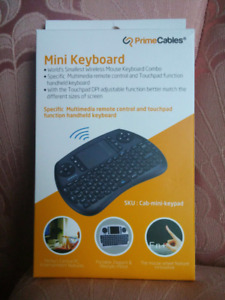NEW Mini 2.4GHz Wireless Multimedia Keyboard with Touchpad Mouse