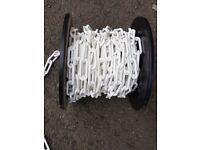 New White Decorative Plastic Garden Chain