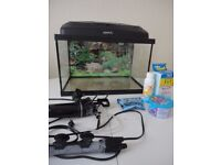 Aquael Classic 40 (25 litres) with filter/heater and test kit