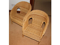 Two Childrens Wicker Chairs