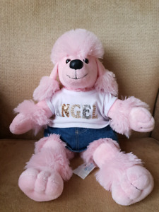 BUILD A BEAR pink poodle with clothing