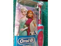 Frozen electric rechargeable toothbrush