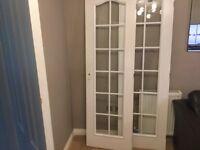2x glazed interior doors