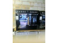 FLAVEL 100cm dual Fuel New 7 burner black colour range cooker warranty included PRP £899 call today