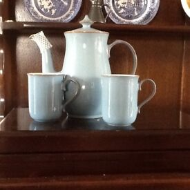 Denby Coffee set for two