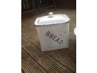1920s vintage large enamel breadbin