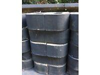 Edging brick dark grey