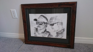 Dale Earnhardt / Dale Earnhardt Jr. Sketch Wall Art