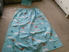 "Pair of Dunelm blackout birds and clouds curtains 66 x 72"" ideal for nursery/kid's bedroom"