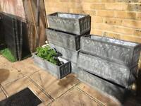 Faux lead 60cm Garden planters x 8