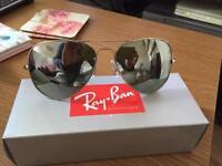 Rayban 3026 silver aviator sunglasses