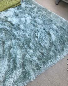 New pale Mint Green Lush Thick Rug Large, 230/160cm, Deep Super Soft touch pile, Was £130. Sell £75