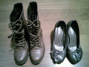Size 5 heels and boots
