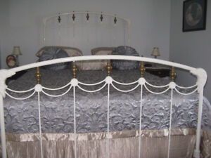 Antique Wrought Iron  Brass Bed