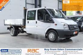 2013 63 FORD TRANSIT 2.2 350 DRW 1D 124 BHP DIESEL DOUBLE CAB TIPPER