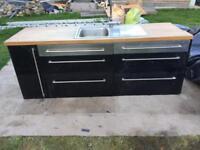 Ikea gloss black kitchen sink unit