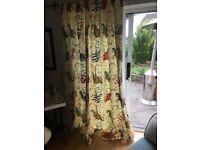 Jane Churchill curtains, pelmet & cushion covers