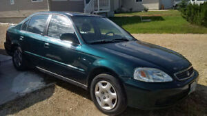 1999 Green Honda Civic Sedan
