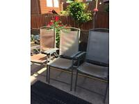 3x foldable garden chairs