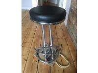£30 for 2 Breakfast bar stools - black leather/chrome style - Putney