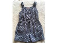 Girls 2-3 Years bluezoo heart print playsuit