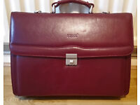 """Dericci"" Italian Leather Briefcase"