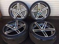 22'' AXE LUXURY ALLOY WHEELS TYRES 5X120 BMW X5 X6 RANGE ROVER LAND SPORT VOGUE