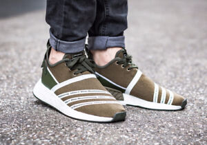 Adidas White Mountaineering NMD_R2 Primeknit Trace Olive Shoes