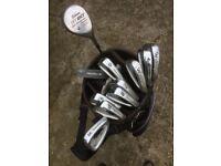 Golf Clubs - full set of irons + putter + bag