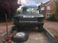Off roader farm track land rover