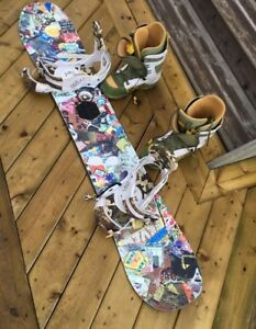 Burton Snowboard, Bindings, and Boots Setup PRICE REDUCED
