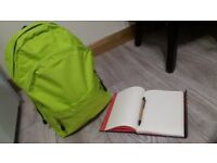 Lime green backpack (never been used)