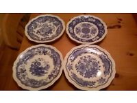 Spode 9 Dinner Plates of Different Designs