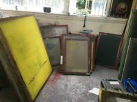 Screen Printing Frames without mesh