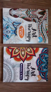 Two adult coloring books
