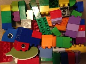 bags of blocks and lego duplo - clean