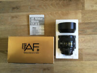 Nikon Nikkor 85mm f/1.8 AF D - BOXED AND MINT CONDITION