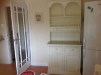 Pretty cream painted kitchen dresser