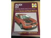 Audi A3 (1996 to 2003) Haynes Manual, postage available