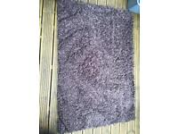 'NEXT' 100% WOOL CHOCOLATE BROWN RUG - COLLECTION FROM PETERBOROUGH, PE4