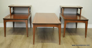 Mid Century Coffee Table and 2 Side Tables