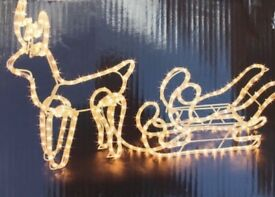 Outdoor Christmas Lights - Sleigh