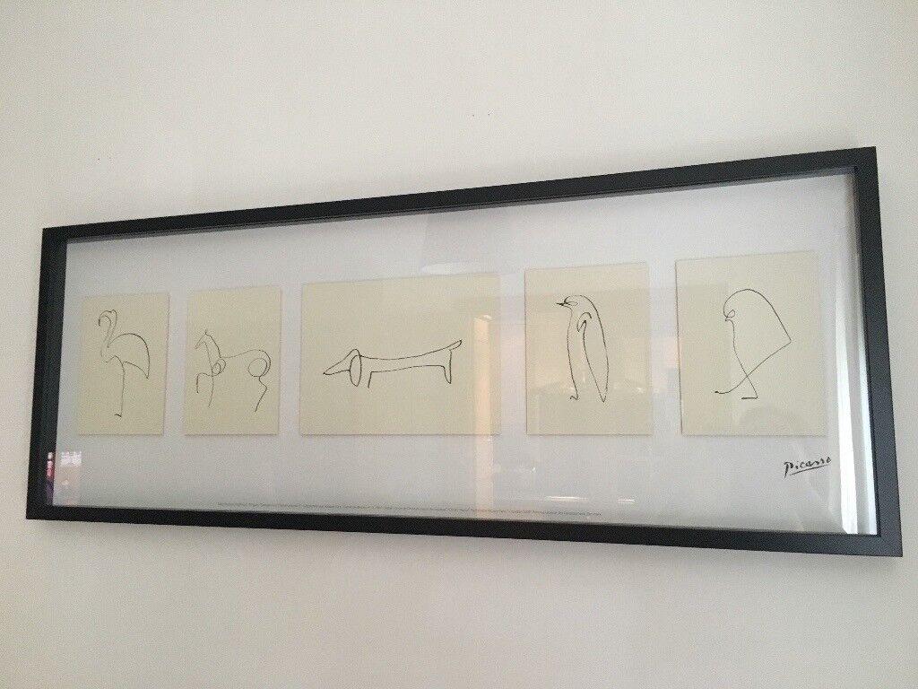 framed picasso sketches olunda ikea frame in kingston london gumtree. Black Bedroom Furniture Sets. Home Design Ideas