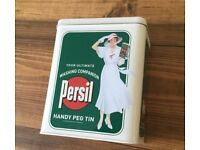 Brand New Persil Retro Vintage Style Storage Peg Tin - £5 ono