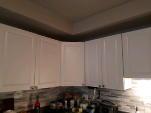 Selling: Great Condition White Cupboards