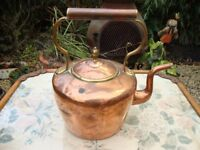 Antique Copper And Brass Kettle.