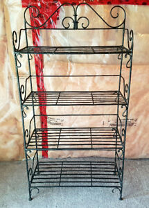 Black iron-wrought type shelf