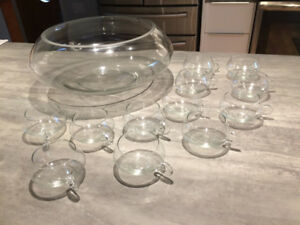 14 PC. crystal punch set